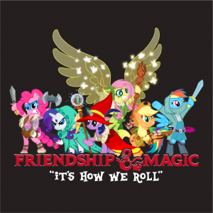 dungeons and dragons x my little pony shirts