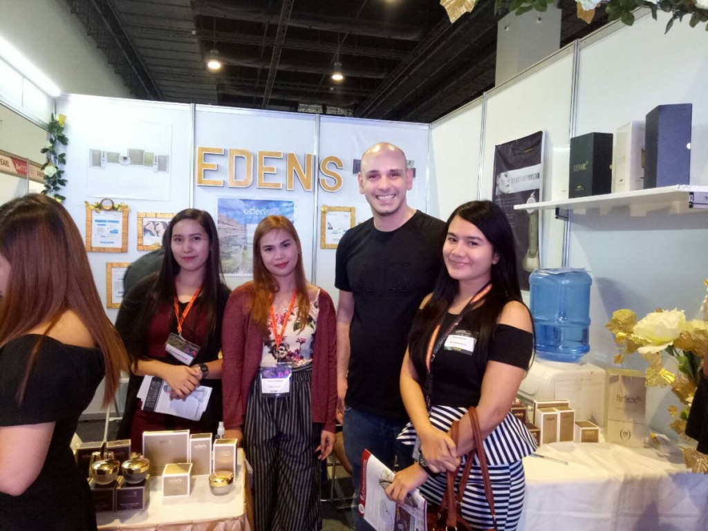 WebForce PH client engagement manager Mechelle Manlunas with EDEN's owner Moses