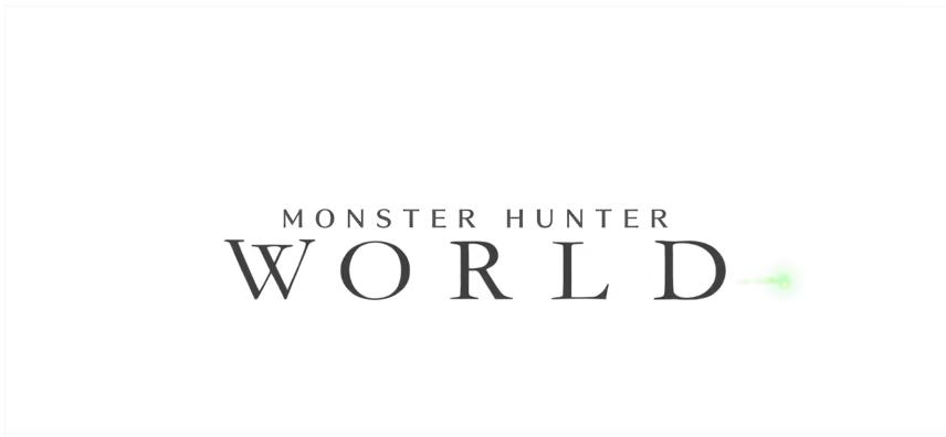 monster hunter world white logo