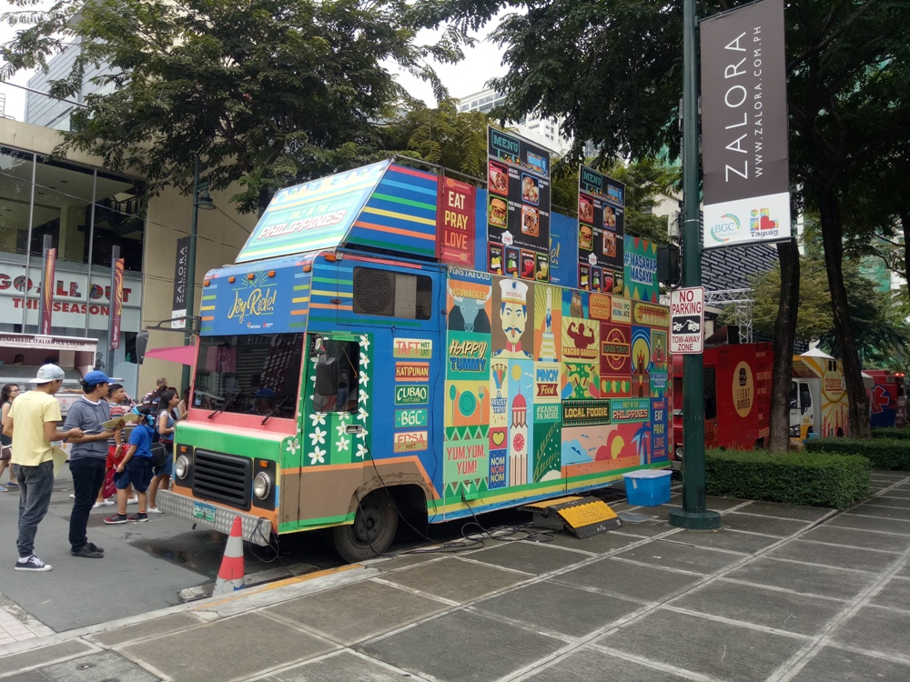 Festive-looking food trucks