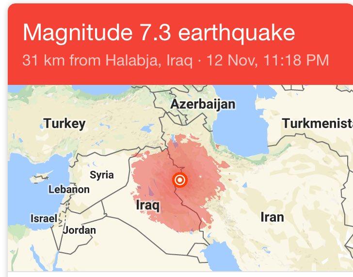 Middle East earthquake
