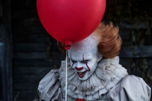"This image released by Warner Bros. Pictures shows Bill Skarsgard in a scene from ""It."" (Brooke Palmer/Warner Bros. Pictures via AP) ORG XMIT: NYET807"