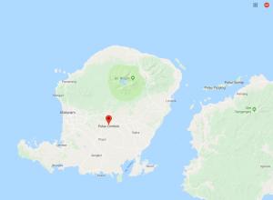 lombok earthquake map